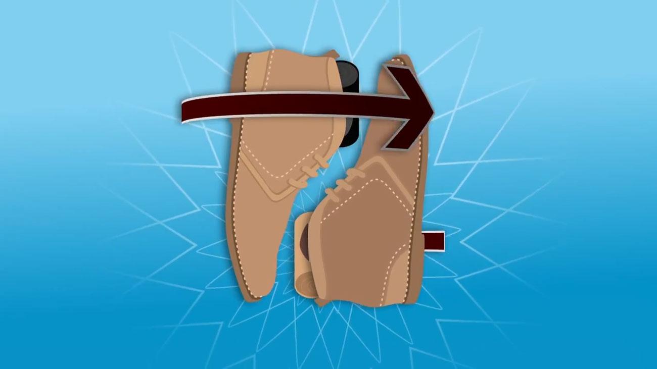 Schuhe und Socken packen