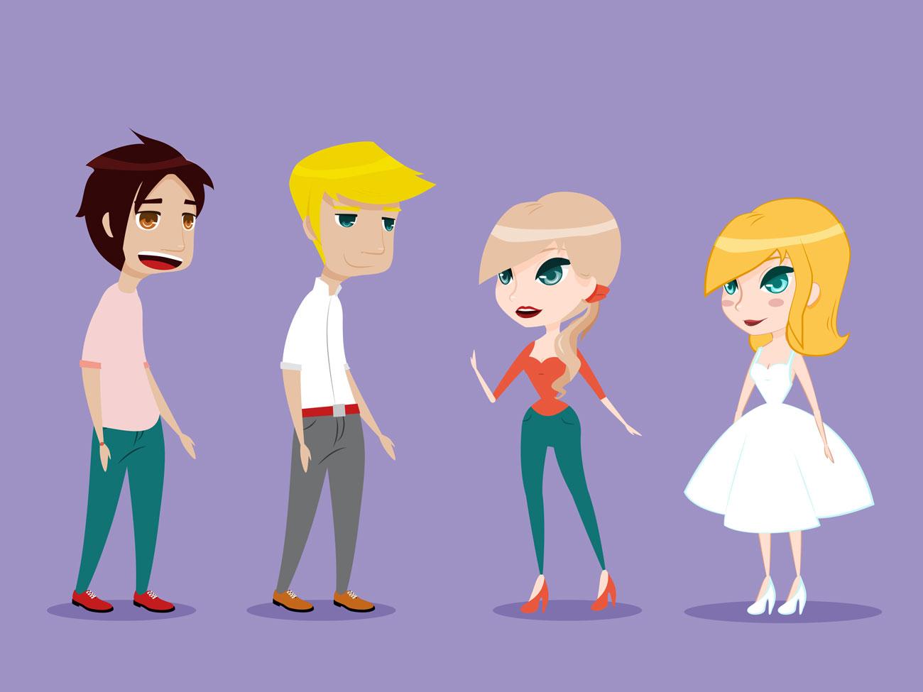 Charakterdesign Alltagscharaktere