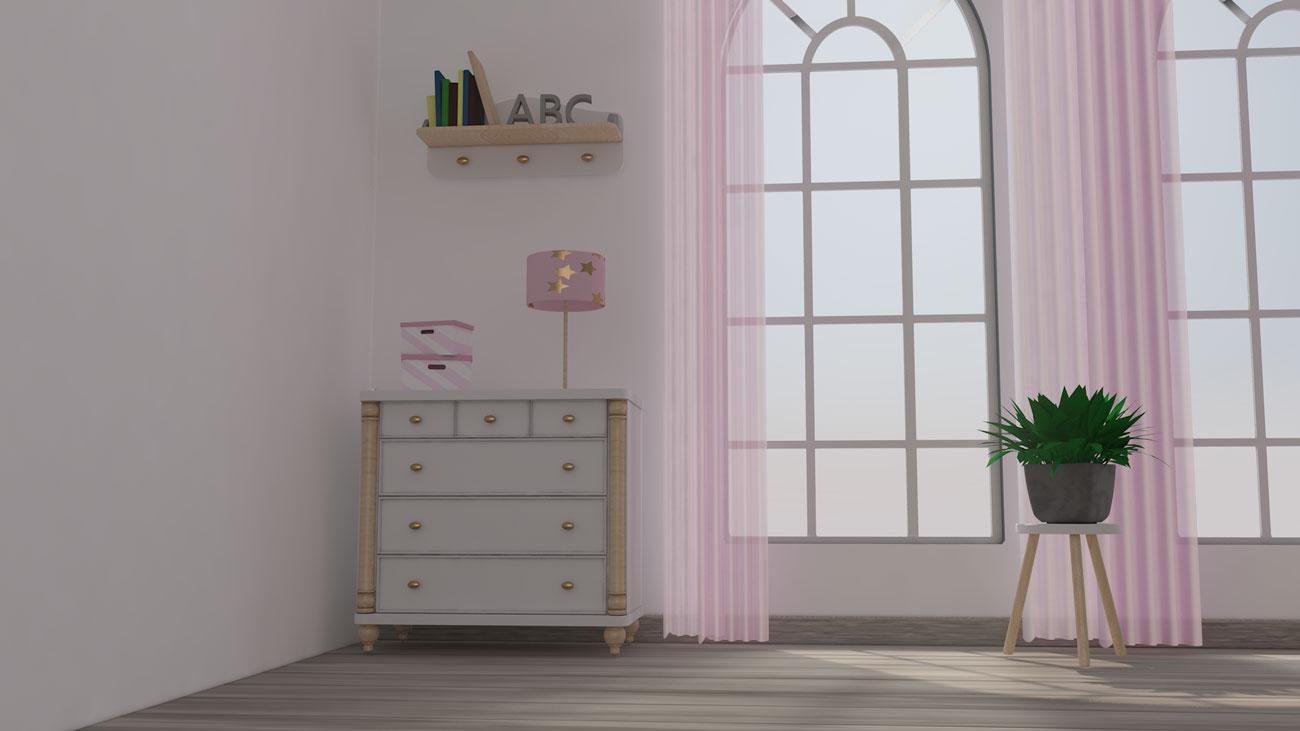 3D Kinderzimmer Komode