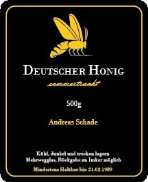 Honig Etikett Rechteck