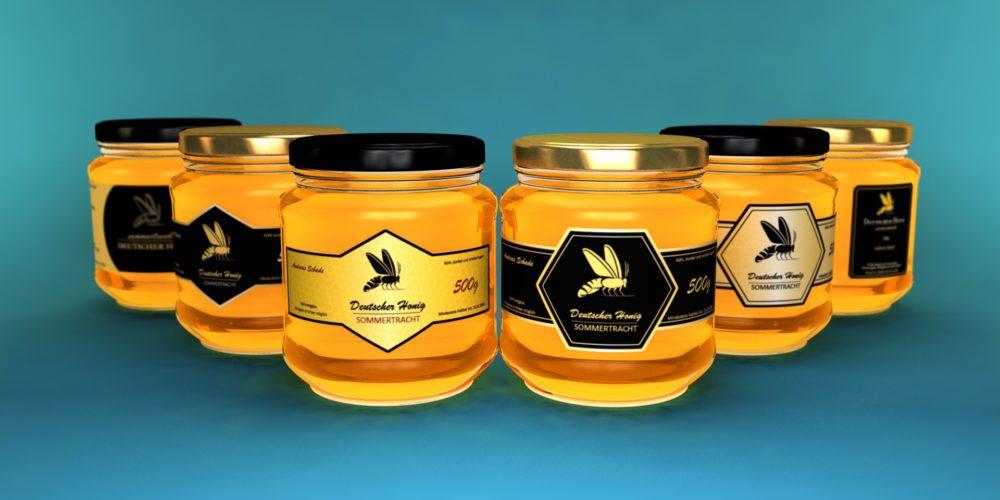 3D Honigglaeser