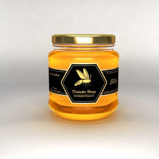 3D Honig Glas Wabe schwarz