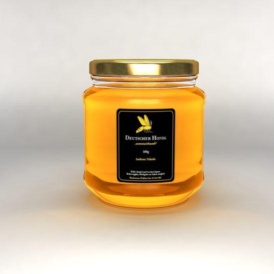 3D Honig Glas rechteckiges Etikett