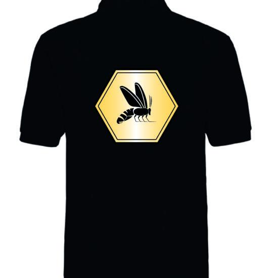 Shirt schwarz Ruecken mit Logo