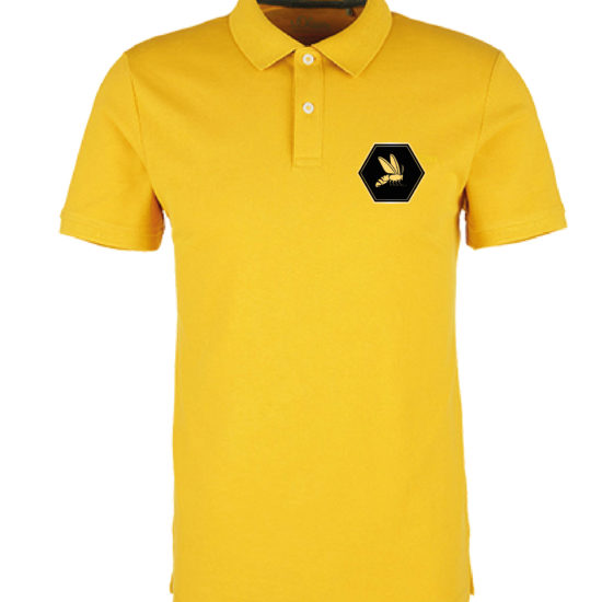 Shirt gold vorne mit Logo