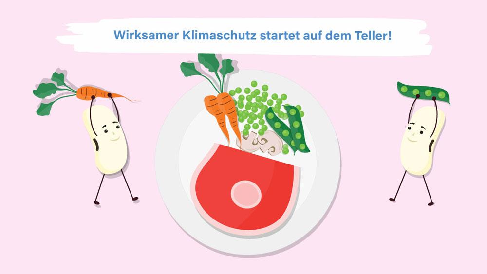 Sojabohnen belegen den Teller mit Gemüse